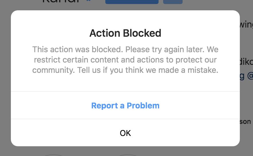 Instagram Follow Block - Mega Thread - Level 1 [SERIOUS] - Instagram