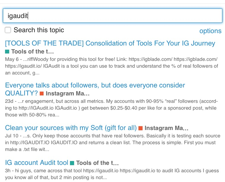 IG account Audit tool - Tools of the trade - MP Social